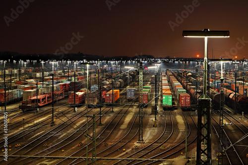 Rangierbahnhof Maschen am Abend
