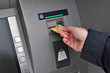 ATM money withdraw, business