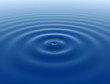 Blue smooth water ripples