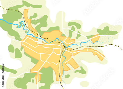 Simplified Vector Map of The City II