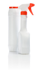 two white sprays isolated