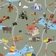 Big World For Little People - Seamless Pattern