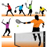 Tennis silhouettes set 02
