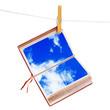 libro appeso al cielo