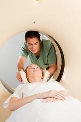 Patient in CT Scan