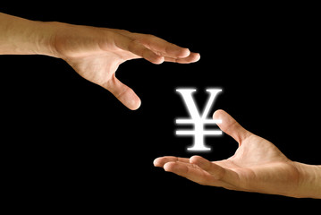 Hand share the Yen icon to other