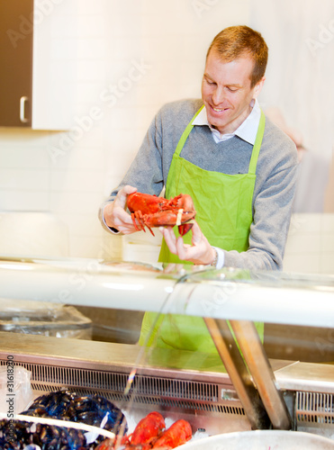 Lobster at Grocery Store