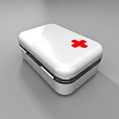 Erste Hilfe Kasten - 3D
