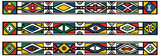 Fototapety Set of traditional african ndebele patterns - vector illustratio