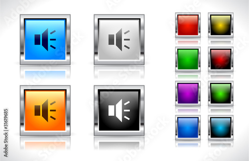 Buttons for web. Vector.