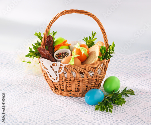 Easter basket with food 2 - 31620621