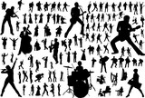 Fototapety Music vector silhouettes