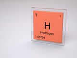 Hydrogen chemical element of the periodic table with symbol H poster