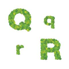 葉のアルファベットq-r