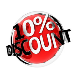 3d rendered illustration of a discount button