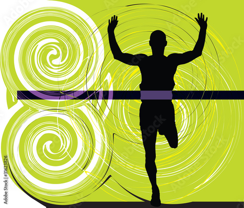 Athlete. Vector illustration