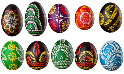 Collection of decorative easter eggs