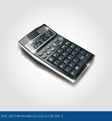 eps Vector image:calculator (3d) 2
