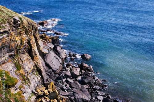 Coast line cliffs