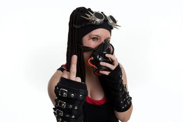 Gothic Girl Sticky Finger