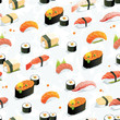 Beautiful Classic Japanese Seamless Pattern