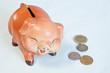 thai coins and drops piggy bank