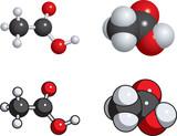 acetic acid (vinegar) molecules poster