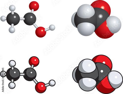 acetic acid (vinegar) molecules t-shirt