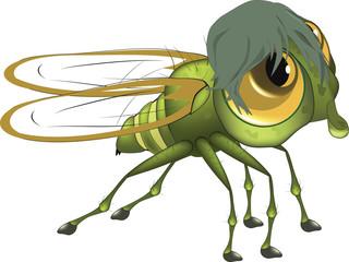 Fly. Cartoon