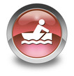 "Red Glossy Pictogram ""Rowboating"""