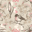 Vintage romantic seamless pattern