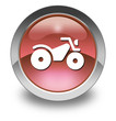 """Red Glossy Pictogram """"All Terrain Vehicle Trail"""""""