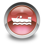 "Red Glossy Pictogram ""Motorboating"""