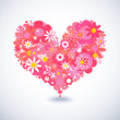 Beautiful floral heart