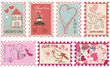 Love and wedding stamps