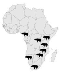 Spitzmaulnashorn Verbreitung