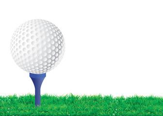 Balle de golf sur son tee