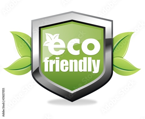 Eco friendly shield icon