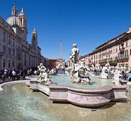 Piazza Navona, Fontana del Moro, 1654, Roma