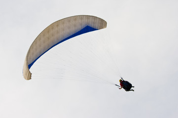 Paraglider during the turning back