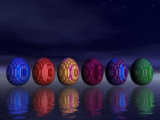 Easter eggs by night