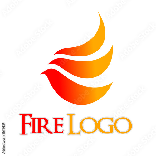 logo fuoco  fire...K Logo In Fire