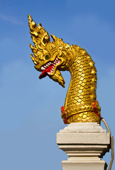 Golden Naga head