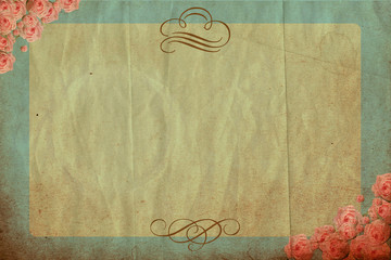 vintage background with spring flowers