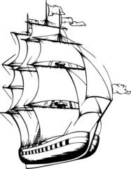 Sailing Ship (Vector)