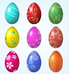 The colorful eggs for EASTER