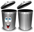 Bidone della Spazzatura Cartoon-Trash-Poubelle-Vector