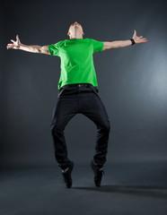 cool breakdance style dancer posing