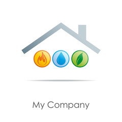 Logo Home energy # Vector