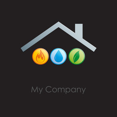 Logo Home energy # Vector